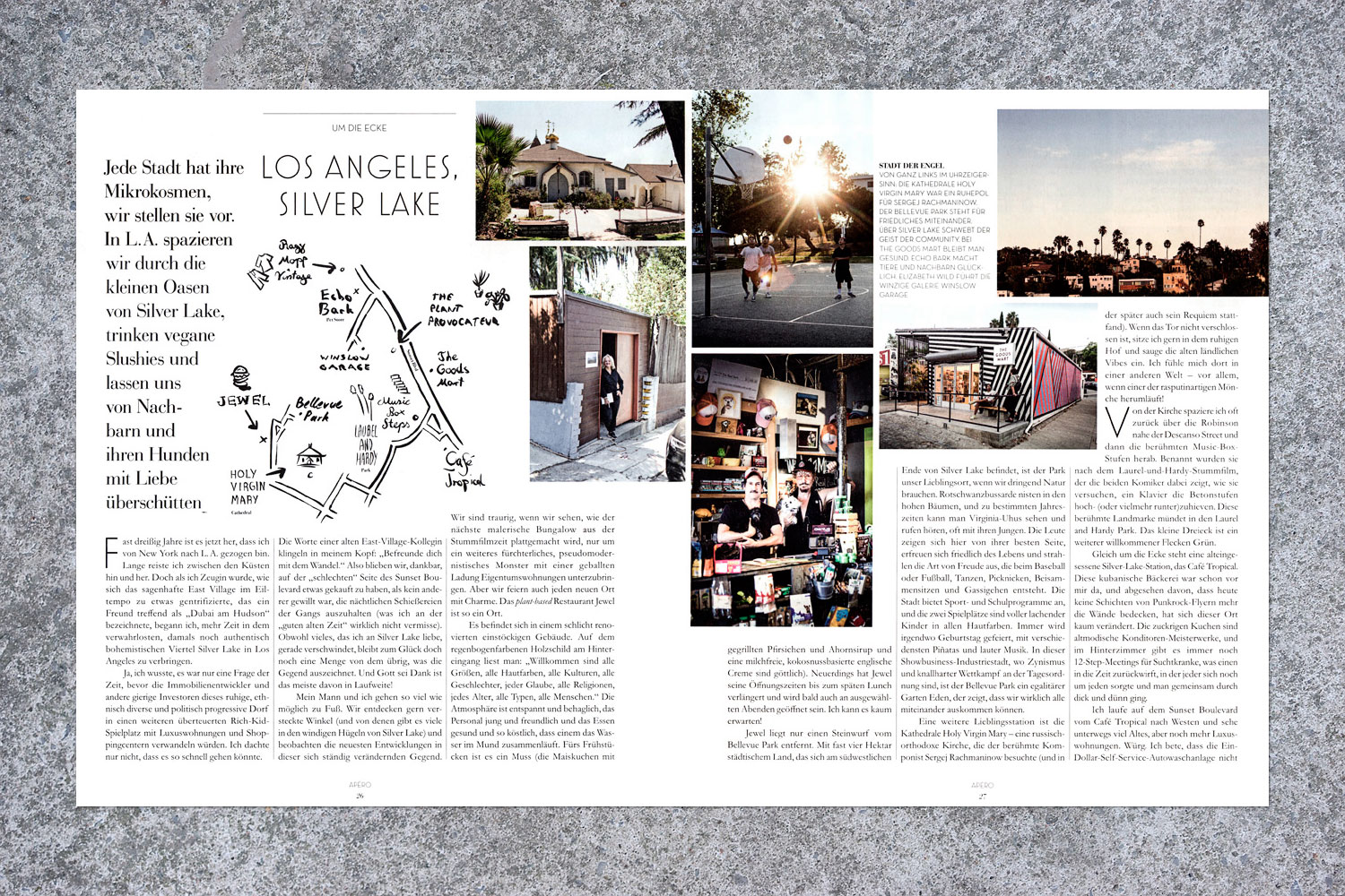 PATRICK STRATTNER PHOTOGRAPHY | TEAR SHEETS | Around the corner - Silver Lake  / Blau