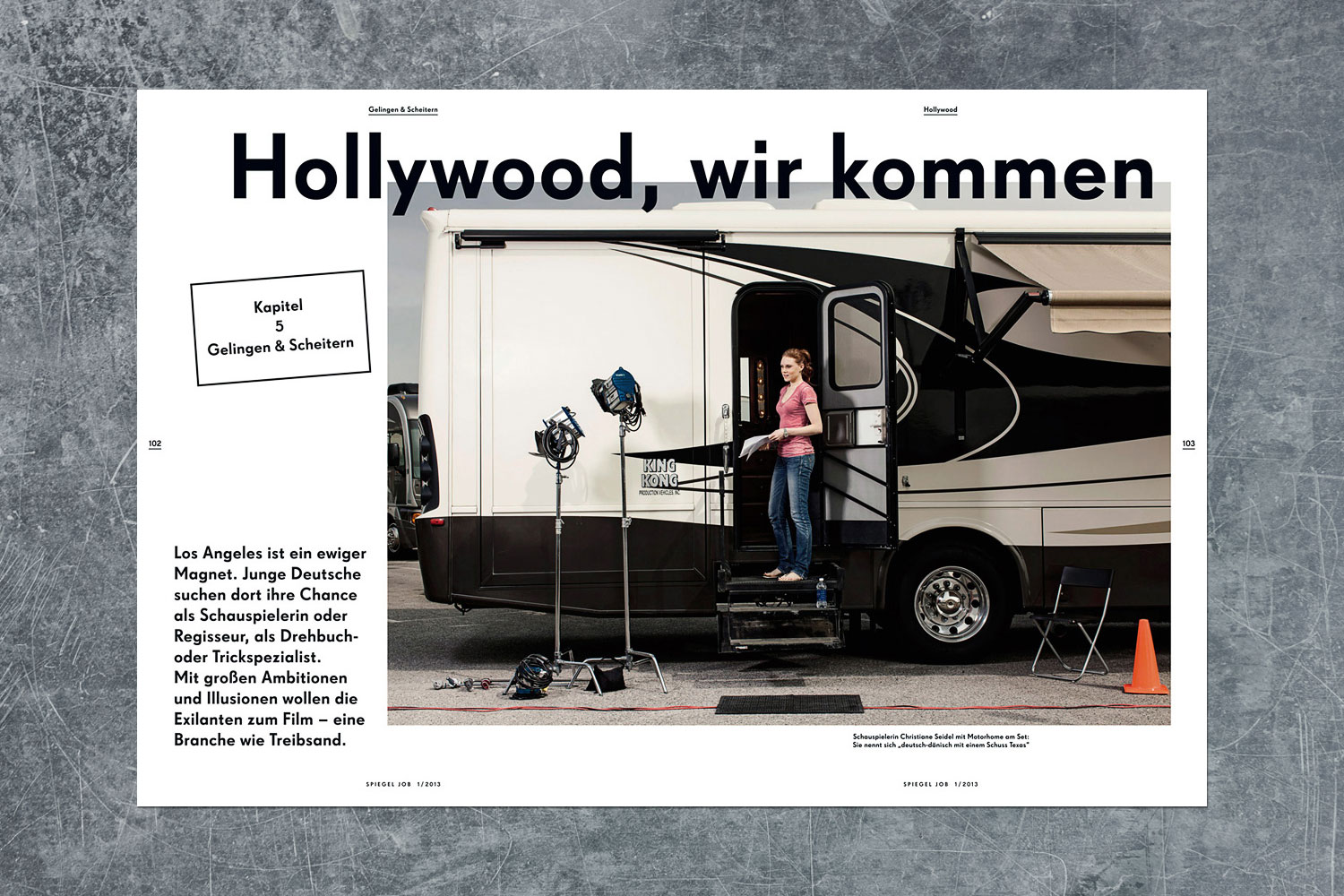 PATRICK STRATTNER PHOTOGRAPHY | TEAR SHEETS | Germans in Hollywood /  SPIEGEL Job