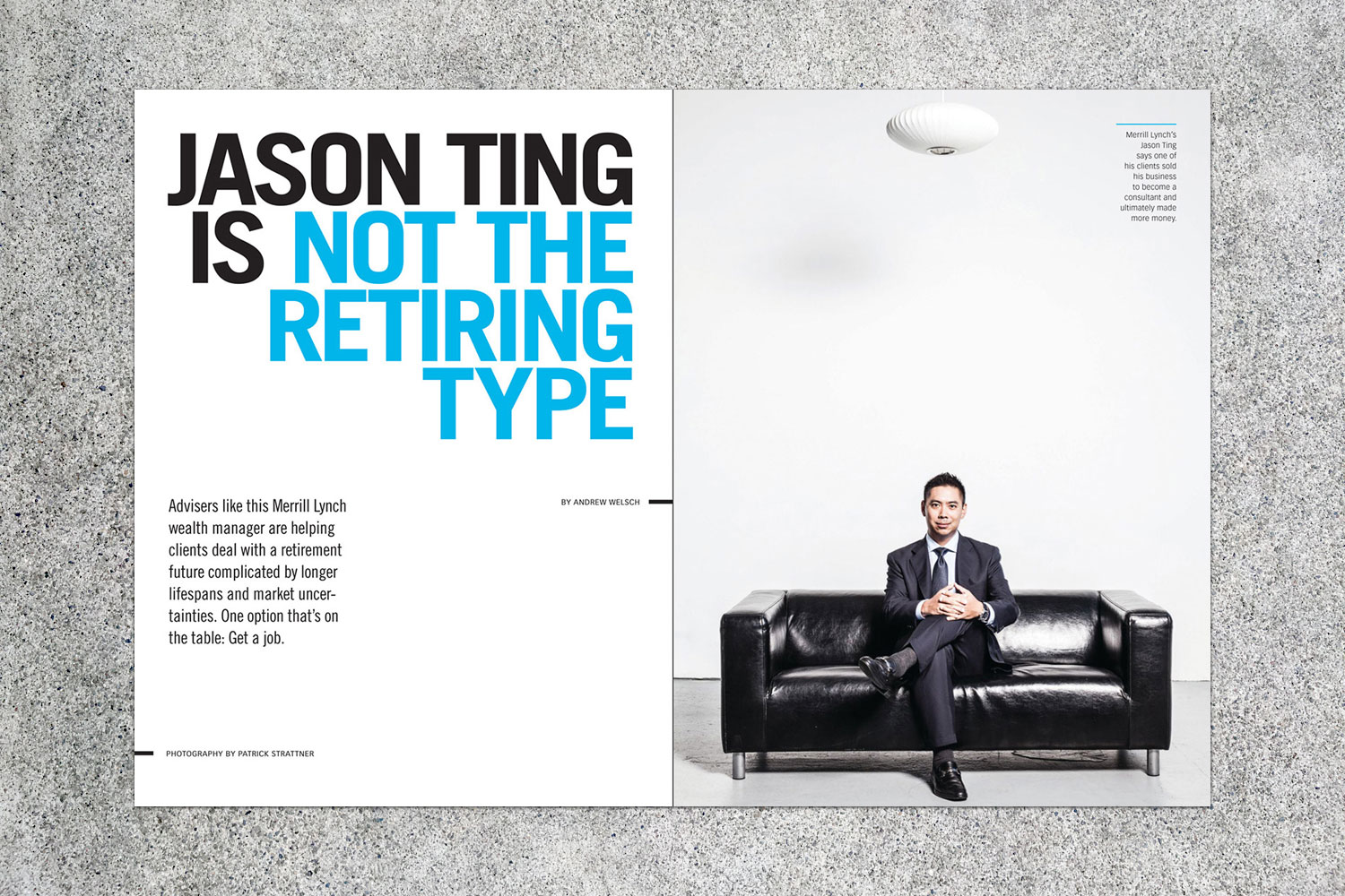 PATRICK STRATTNER PHOTOGRAPHY | TEAR SHEETS | Jason Ting / On Wall Street