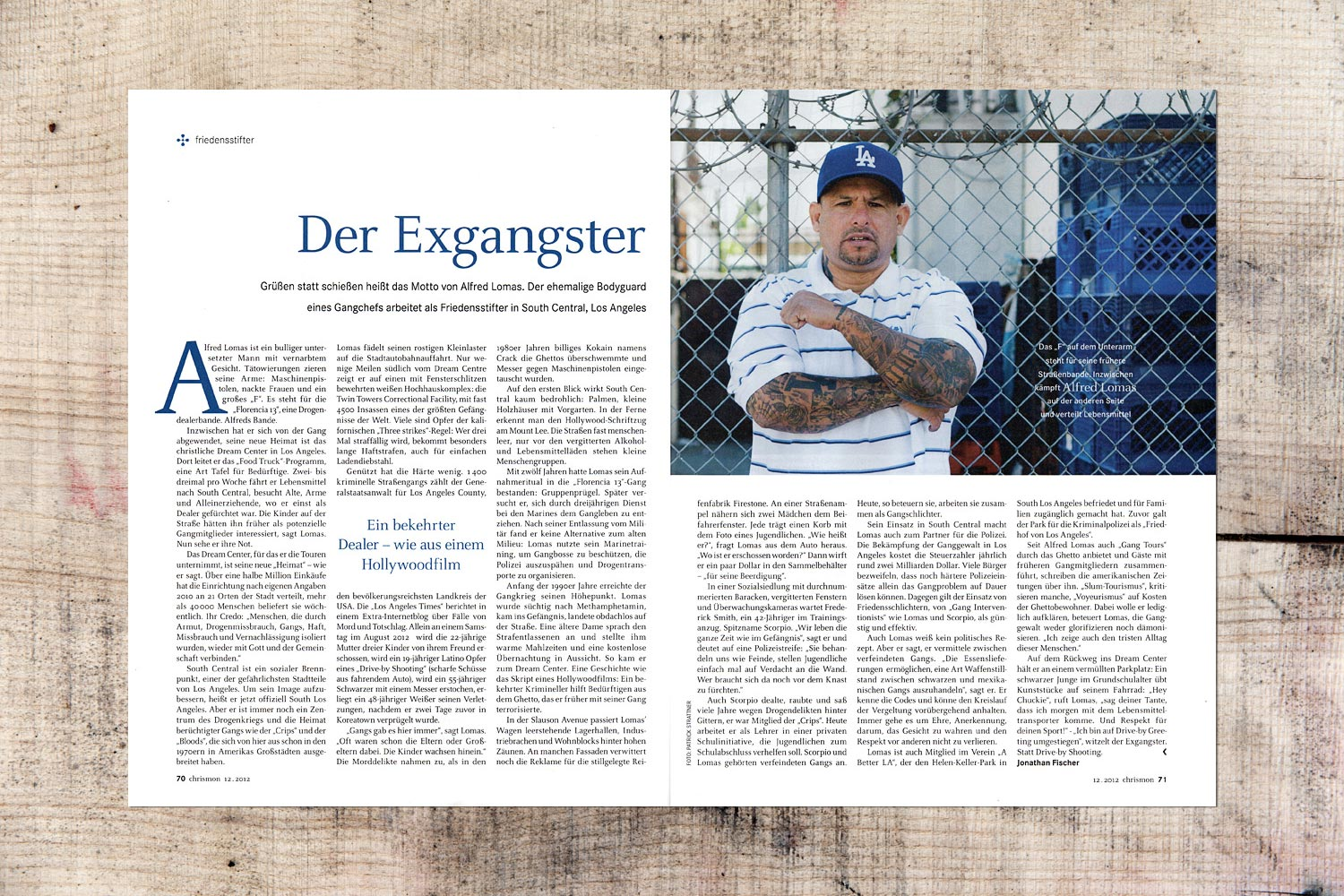 PATRICK STRATTNER PHOTOGRAPHY | TEAR SHEETS | The ex-gangster / Chrismon