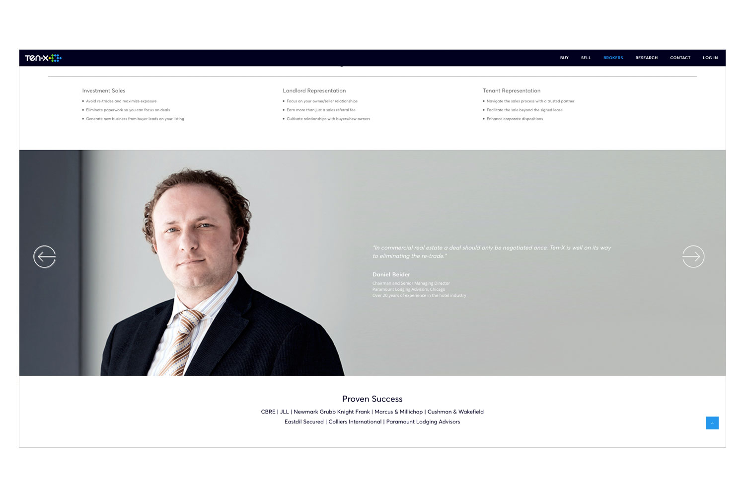 PATRICK STRATTNER PHOTOGRAPHY | TEAR SHEETS | Broker testimonial / Ten-X