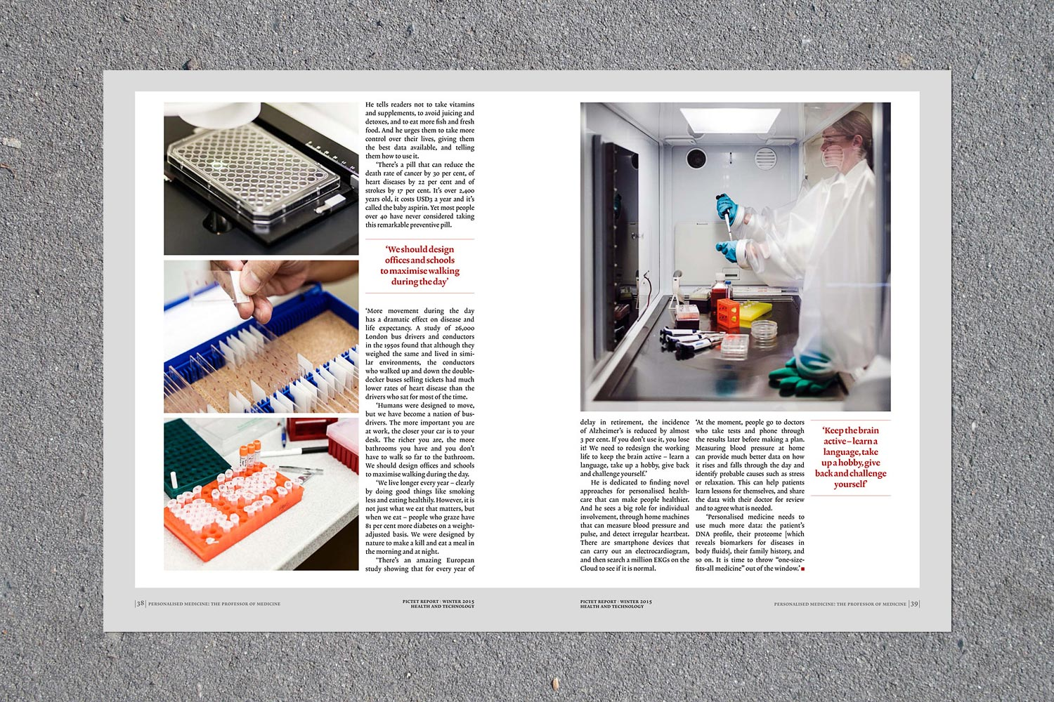 PATRICK STRATTNER PHOTOGRAPHY | TEAR SHEETS | Center for Applied Molecular Medicine / Pictet Report