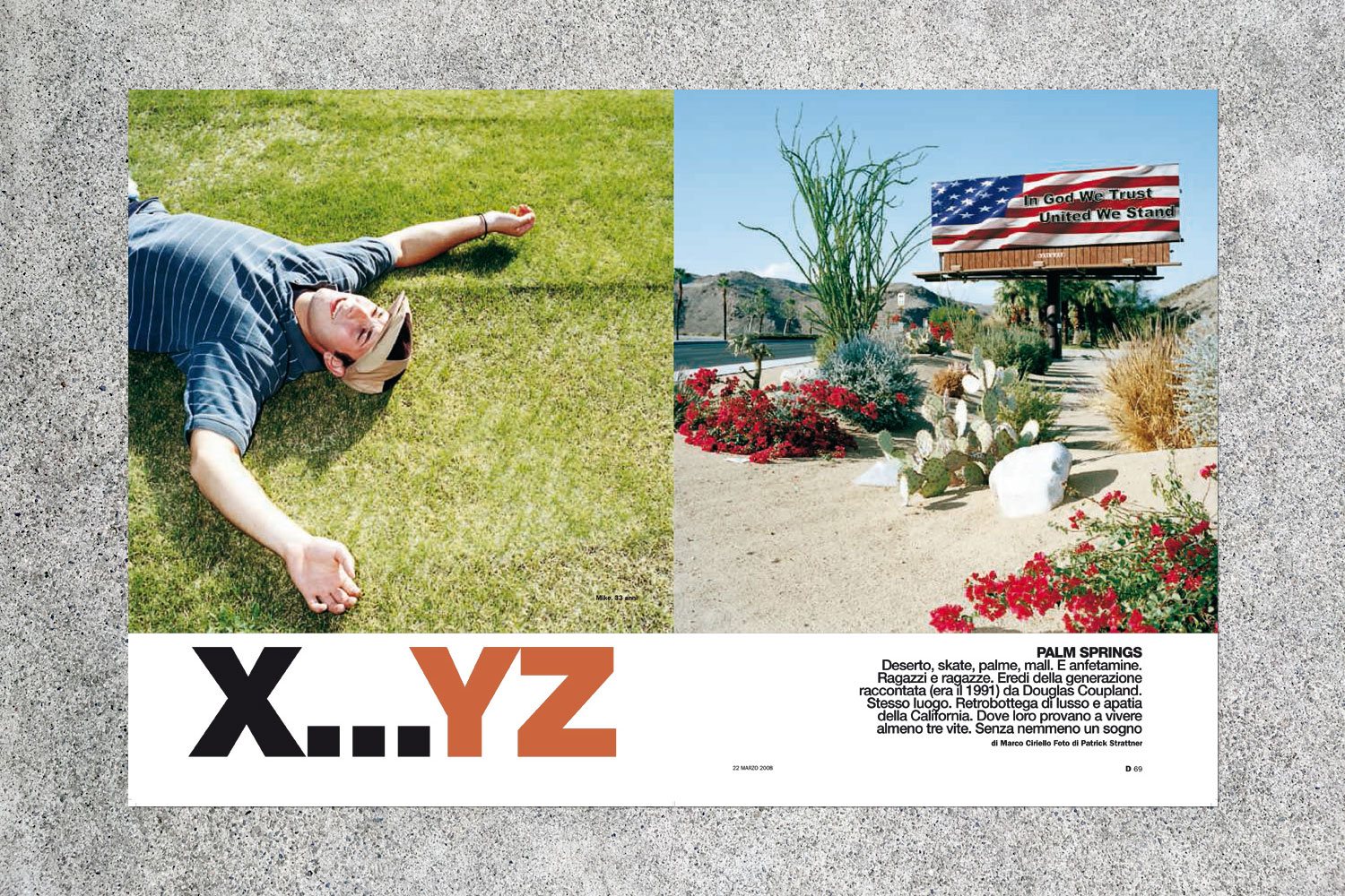 PATRICK STRATTNER PHOTOGRAPHY | TEAR SHEETS | XYZ - New Tales for an Accelerated Culture  / D La Repubblica Delle Donne