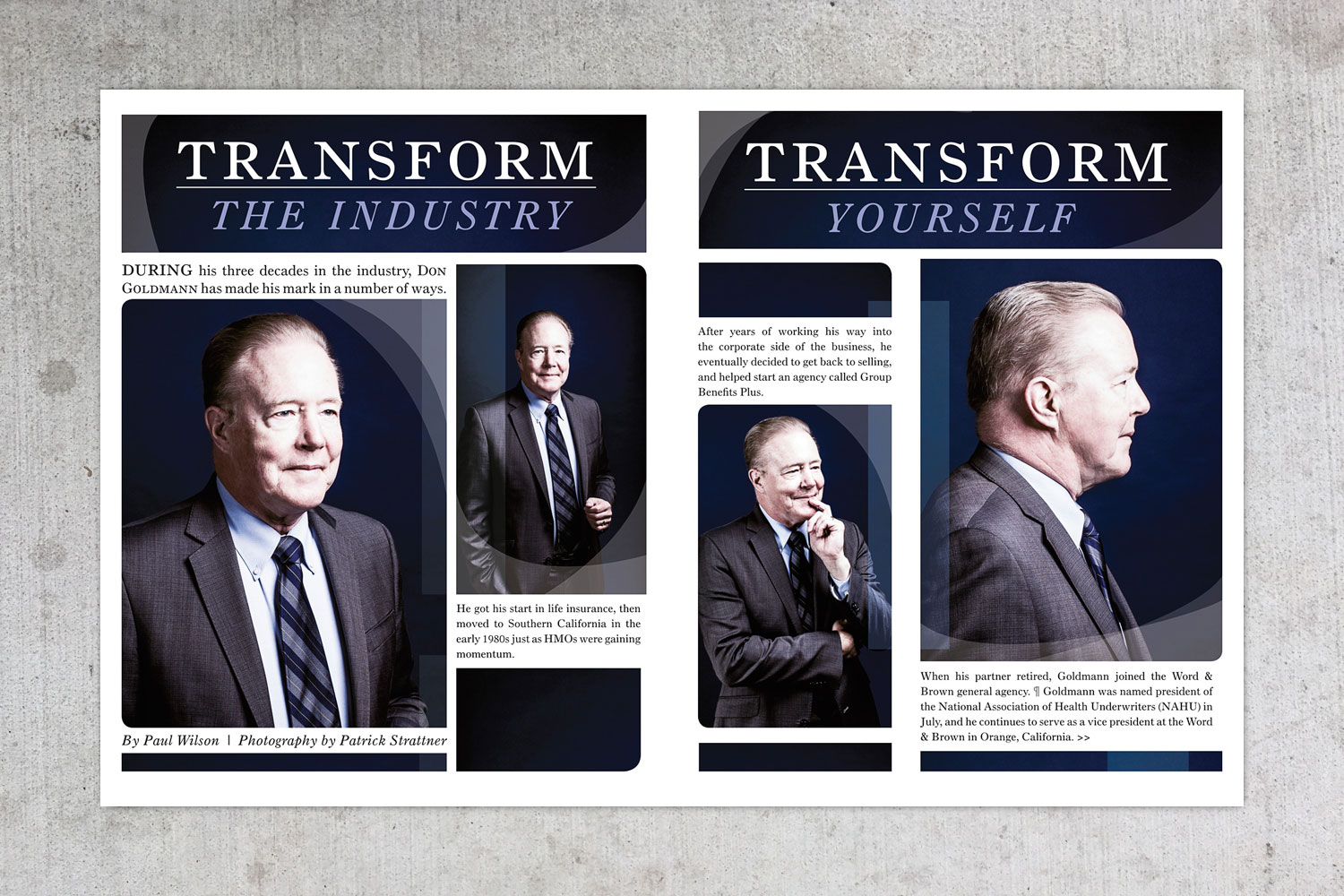 PATRICK STRATTNER PHOTOGRAPHY | TEAR SHEETS | Don Goldmann / Benefits Selling