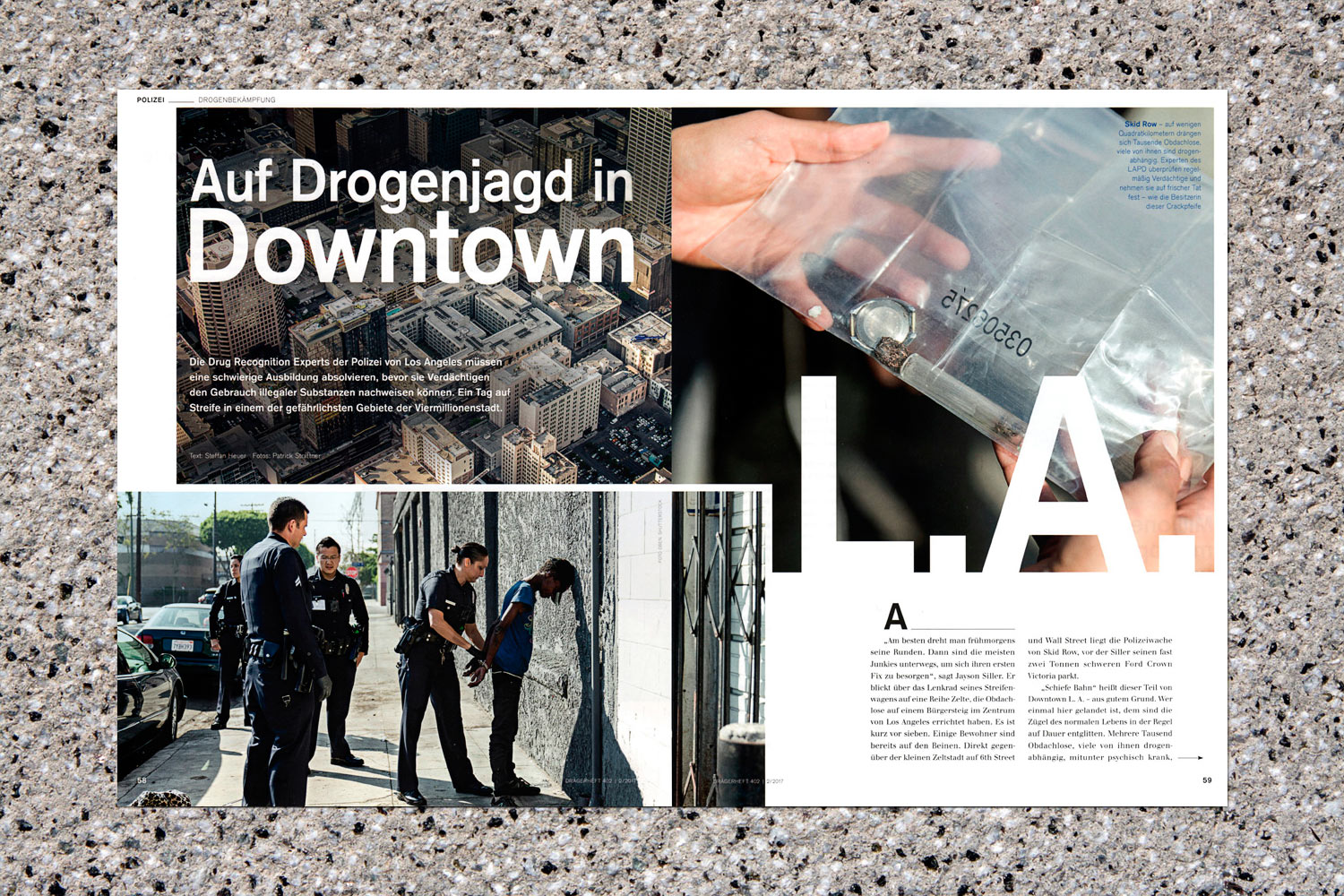 PATRICK STRATTNER PHOTOGRAPHY | TEAR SHEETS | Drug Recognition Experts (DRE) Los Angeles  / Dräger