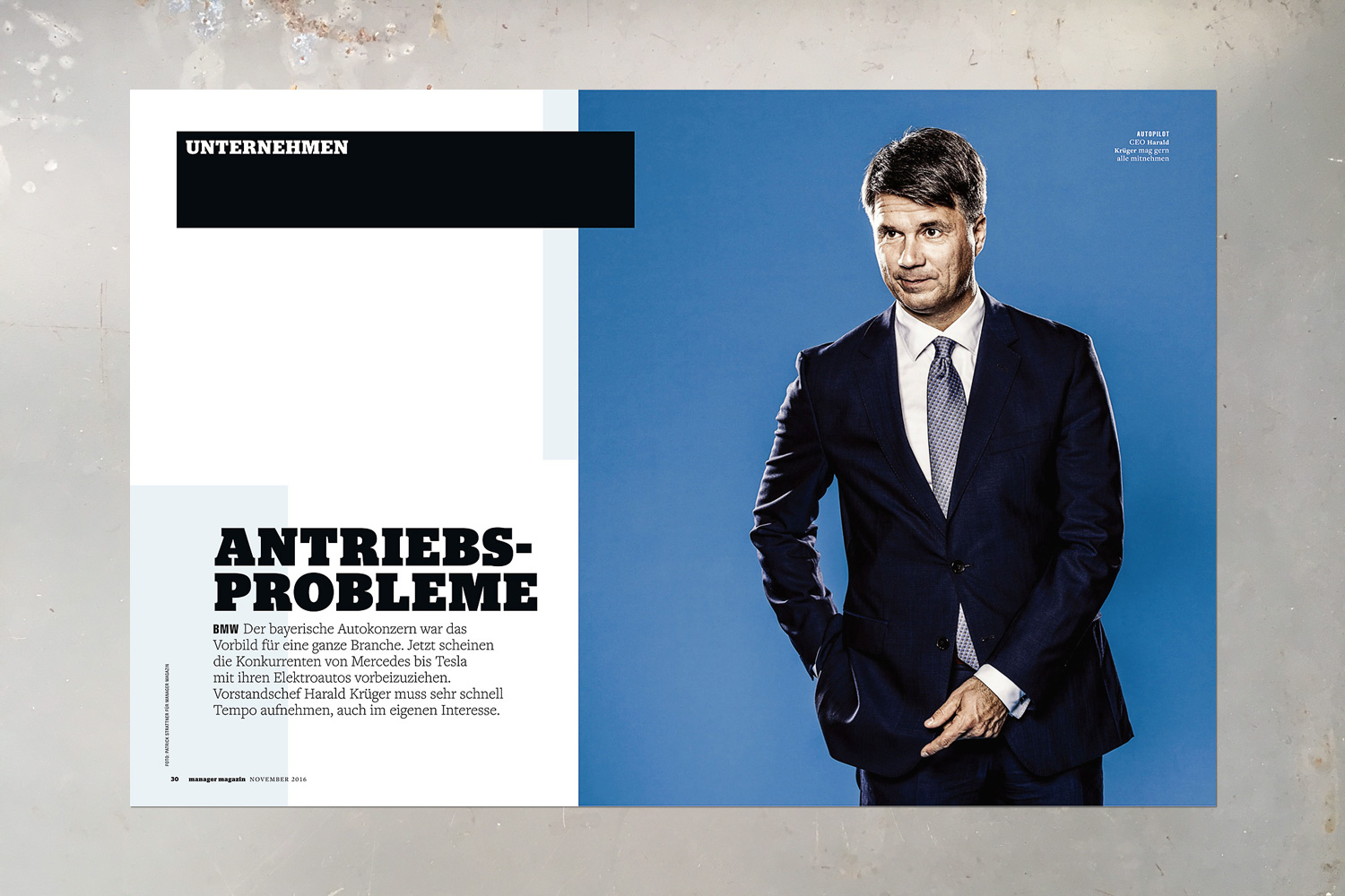 PATRICK STRATTNER PHOTOGRAPHY | TEAR SHEETS | Harald Krüger / Manager Magazin