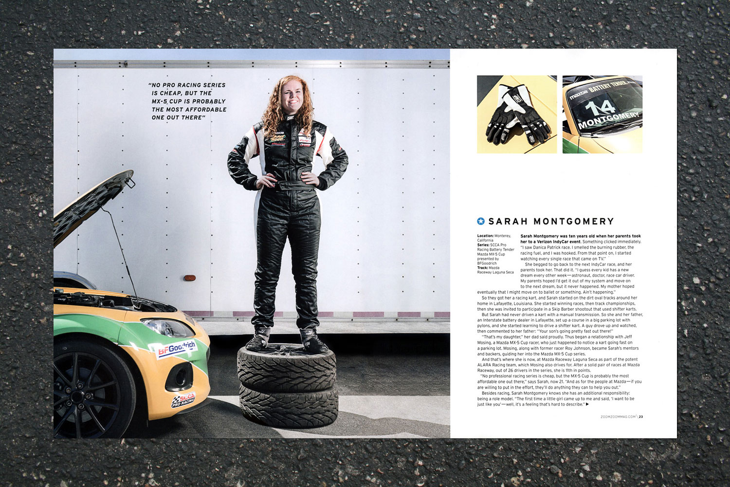 PATRICK STRATTNER PHOTOGRAPHY | TEAR SHEETS | Up and coming Mazda pro race drivers / Zoom-Zoom Magazine