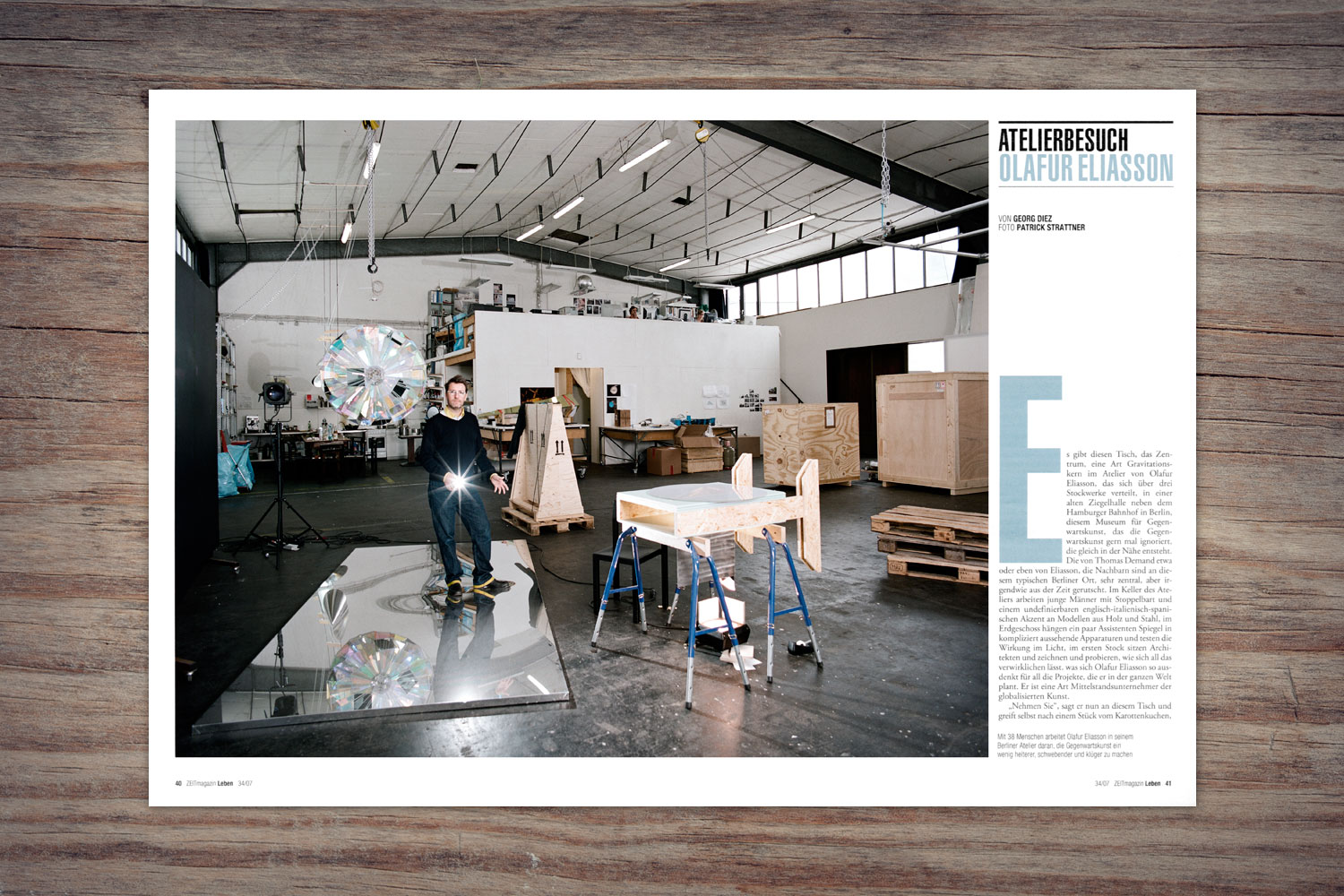 PATRICK STRATTNER PHOTOGRAPHY | TEAR SHEETS | Olafur Eliasson / ZEIT Magazin