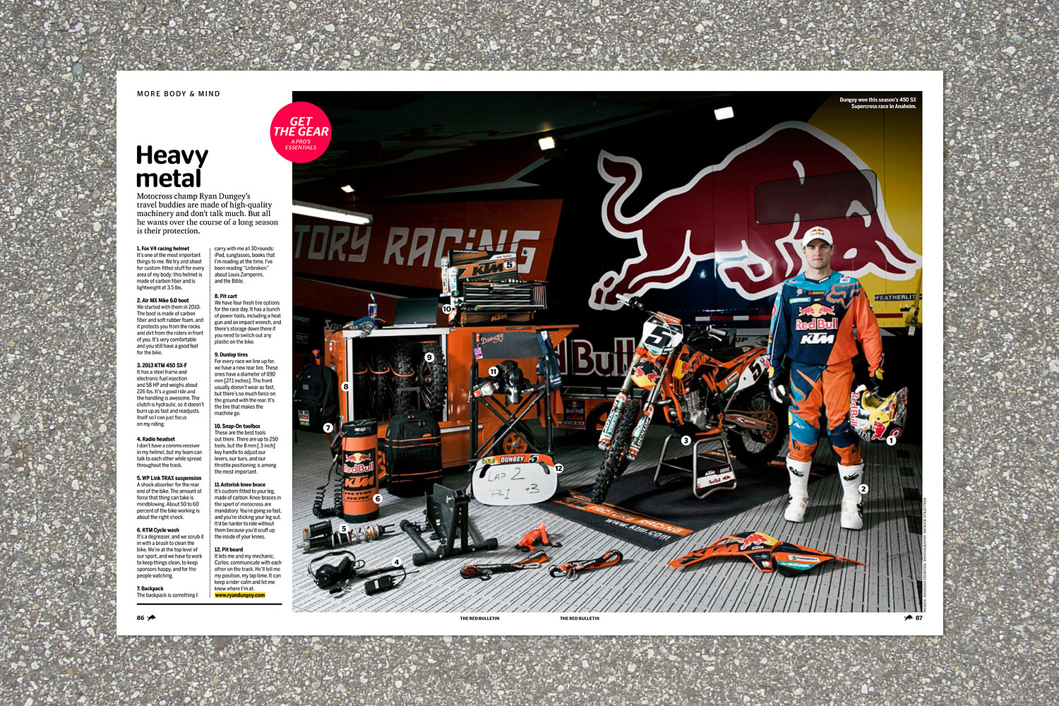 PATRICK STRATTNER PHOTOGRAPHY | TEAR SHEETS | Ryan Dungey / The Red Bulletin